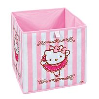 """Comforium - Boîte de rangement Hello Kitty """"Ballerine"""" 32x32 cm"""