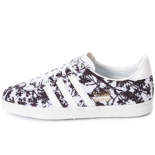 design de qualité 6d04c a99b3 Adidas originals - Gazelle Og Floral Blanche Et Noire - pas ...