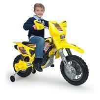 Industrial Juguetera S.A. - Injusa Moto électrique enfant Cross Drift Zx 12 volts Avec Stabilisateurs