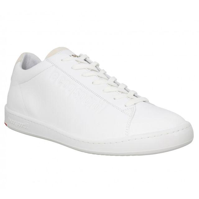 aaf2dfc444fa Le Coq Sportif - Blazon cuir Homme-45-White - pas cher Achat   Vente  Baskets homme - RueDuCommerce