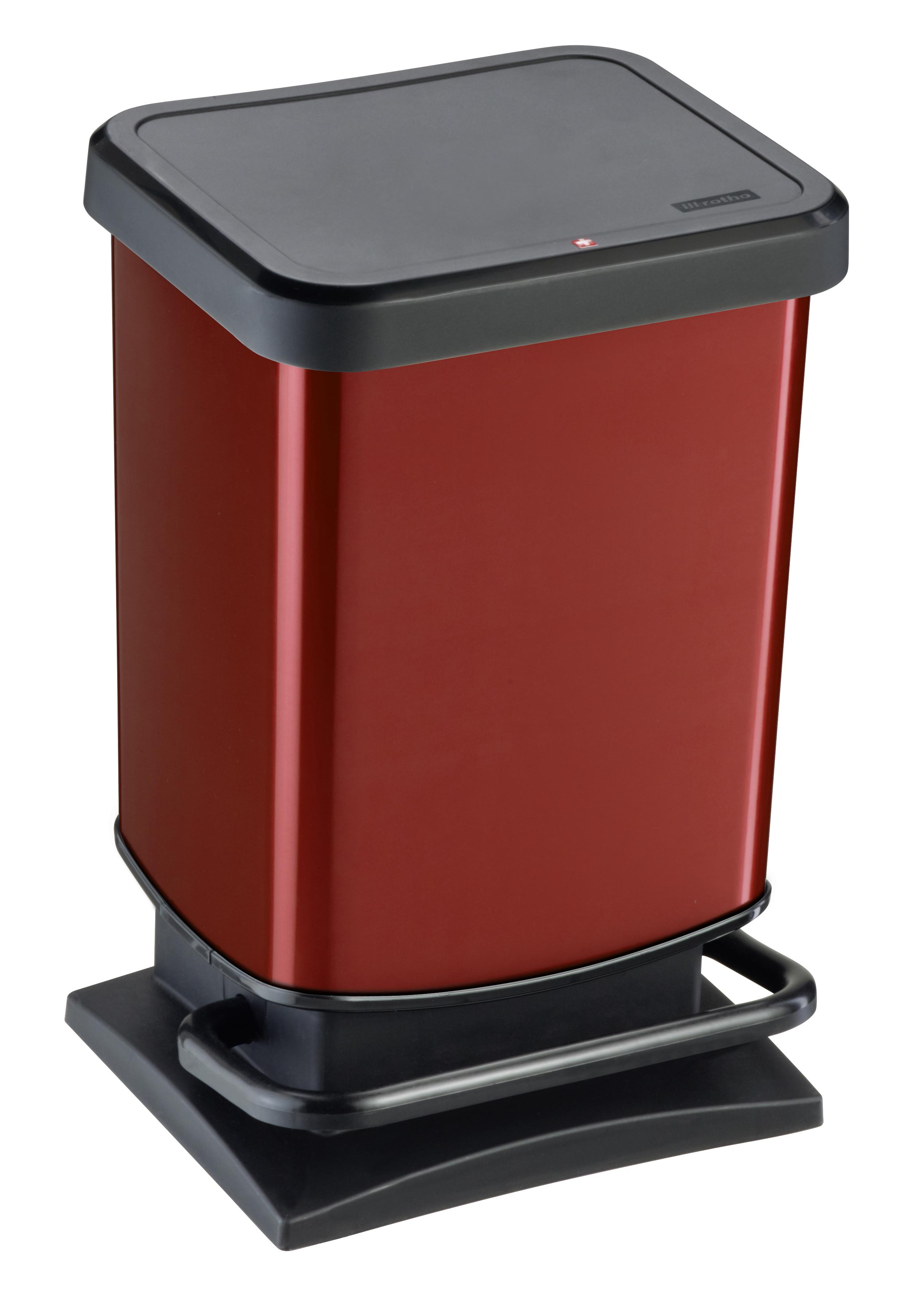 rotho paso poubelle p dale 20l rouge 7540004 pas cher achat vente poubelle de. Black Bedroom Furniture Sets. Home Design Ideas