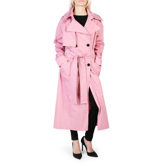 93537dbe6ecd Buzzao - Trench long rose femme - pas cher Achat   Vente Manteau femme -  RueDuCommerce