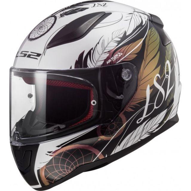 Blanc//Noir//Rouge LS2 Casque moto FF353 RAPID GHOST Blanc NOIR Rouge M
