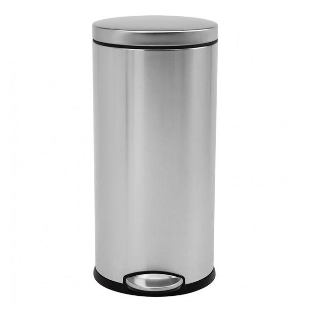 simplehuman poubelle ronde p dale 30l inox cw1810 inox bross pas cher achat vente. Black Bedroom Furniture Sets. Home Design Ideas