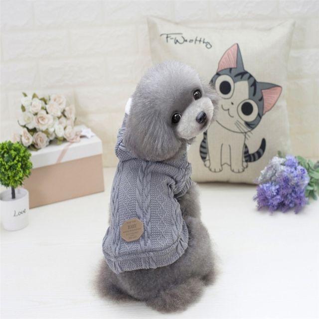Wewoo - Vêtements gris pour Animal de compagnie Chiens Tricot Pull Chaud  Cachemire Les Deux Pieds 06930600c3e4