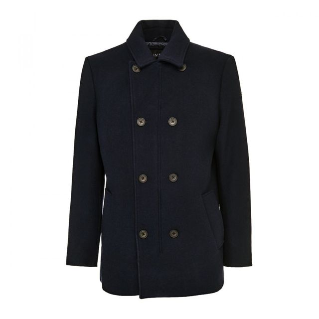 Guess - Manteau Caban Homme Contemporary Bleu Marine - Taille - S ... f6f98c493fe