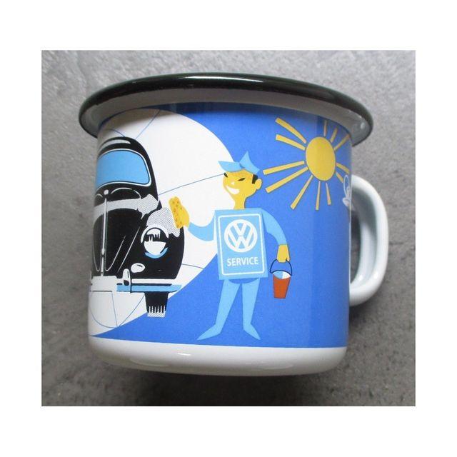 Universel Mug Vw logo vw service email tasse café emaillée volkswagen