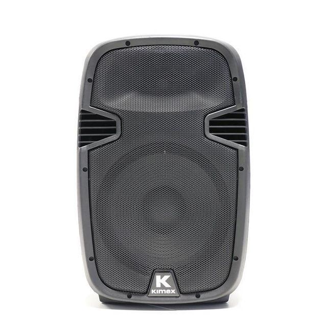 Kimex Enceinte mobile active bluetooth 12'' + 2 micros + trolley