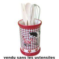 Revimport - Pot de cuisine décor Vache noire sans ustensiles