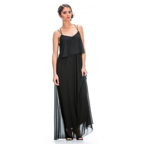 99eae0cb3b9 Princesse Boutique - Robe Longue Noir - pas cher Achat   Vente Robes ...