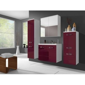 shower design ensemble clarence meubles de salle de bain rouge bordeaux pas cher achat. Black Bedroom Furniture Sets. Home Design Ideas