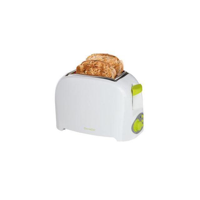 Domoclip Grille-pain bicolore blanc/vert Dod112BV