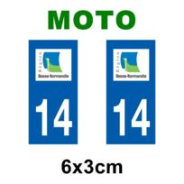 Mygoodprice - Autocollant plaque immatriculation pour moto Basse Normandie département Basse Normandie 14 Calvados