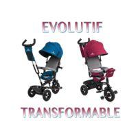 4KRAFT - Swift Tricycle poussette évolutif pour enfant de 1 à 5 ans Bleu