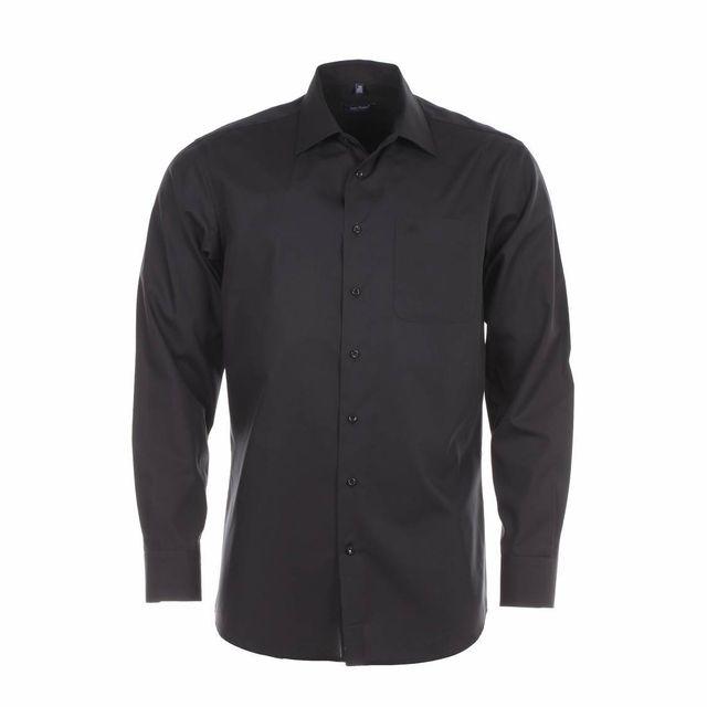 jean chatel chemise homme sans repassage paris chambray noire pas cher achat vente chemise. Black Bedroom Furniture Sets. Home Design Ideas