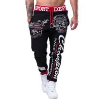 Marque Generique - Jogging homme sportswear Jogging 511 noir et rouge