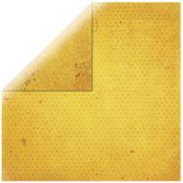 Bobunny - Papier scrapbooking Vintage jaune d'or 30,5cm