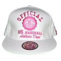 Us Marshall - Casquette Snapback - Taille Réglable - Blanc Rose