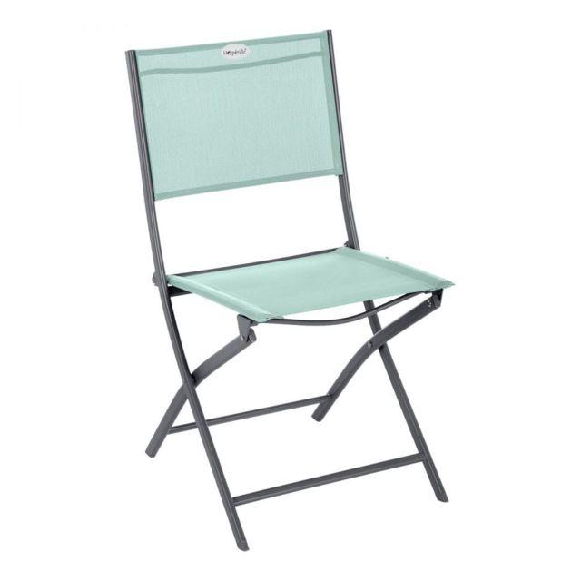 Chaise pliante extérieur Modula vert céladon/graphite Hespéride