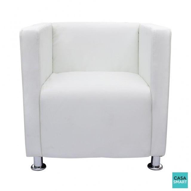CASASMART - Estee fauteuil moderne blanc