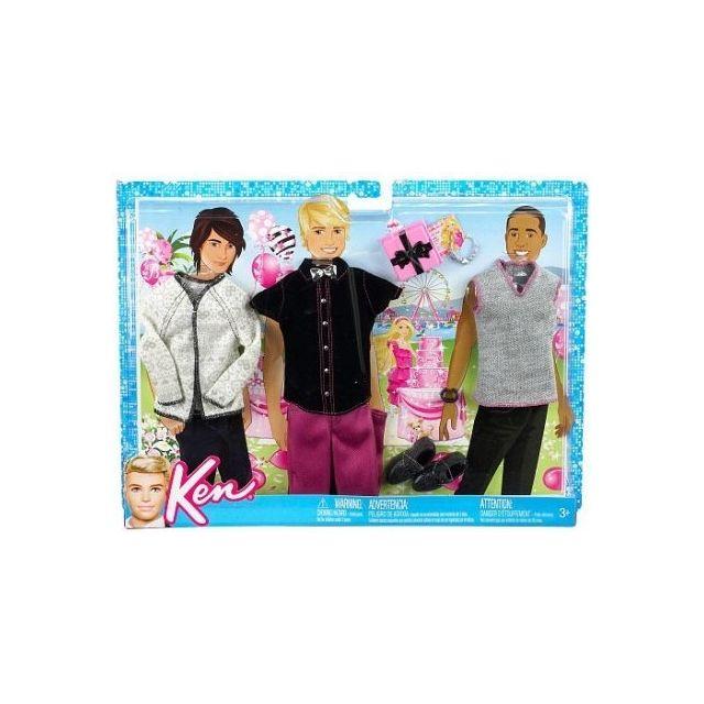 2a377a75b4a Barbie - Mattel - Accessoire Poupee - Ken 3 Tenues - Chemise Avec Pull Et  Pantalon + Accesoires - pas cher Achat   Vente Poupées - RueDuCommerce
