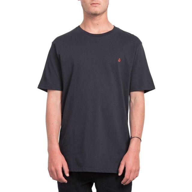 Volcom - T-shirt Stone Blank Noir Homme -