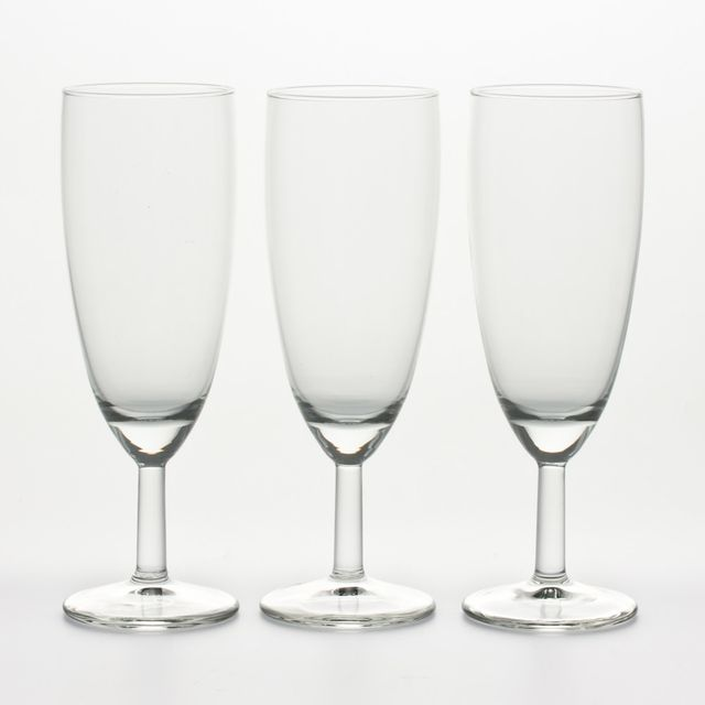 ROYAL LEERDAM LOT DE 3 VERRES BALLON FLUTE 16CL