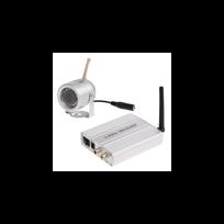Auto-hightech - Kit surveillance étanche/sans-fil 2.4G caméra+récepteur, audio-vidéo
