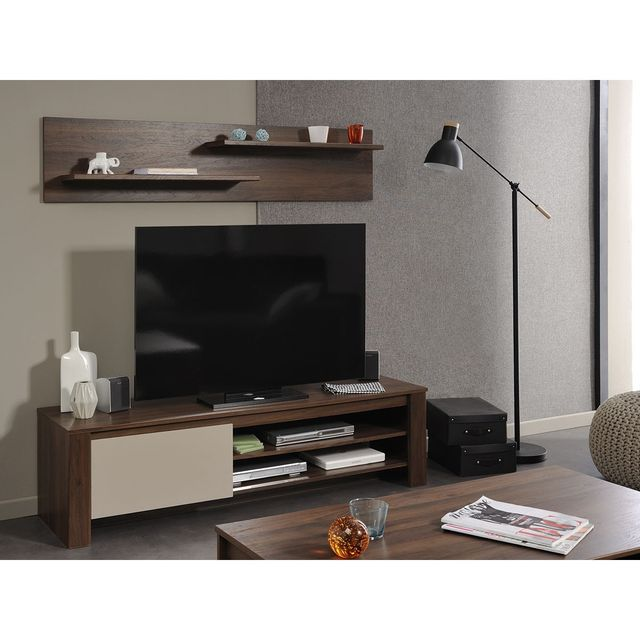 altobuy alessio ensemble meuble tv etag re murale. Black Bedroom Furniture Sets. Home Design Ideas