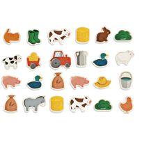 Janod - Magnets en bois : 24 pièces : Ferme