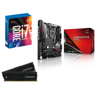 RUE DU COMMERCE - Kit EVO Kaby Lake i7 ROG H - INTEL Core i7-7700K - ASUS ROG Maximus IX Hero - 16 Go DDR4 BALLISTIX Elite