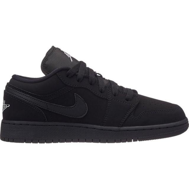 chaussures de sport 1dae8 ad303 Jordan - Chaussure de Basket Air 1 low Bg Noir nubuk pour ...