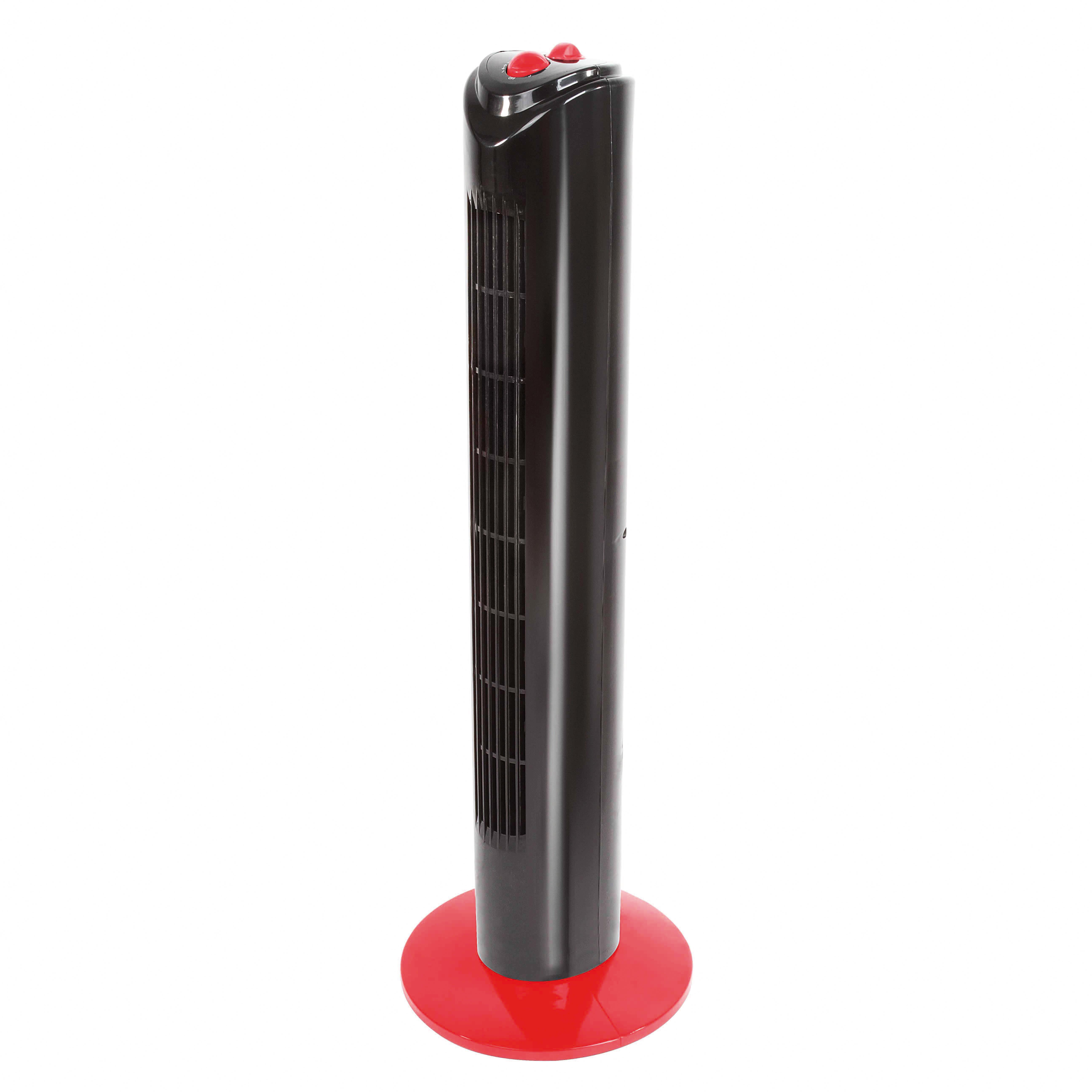 domoclip ventilateur colonne noir rouge dom347nr pas cher achat vente ventilateur. Black Bedroom Furniture Sets. Home Design Ideas