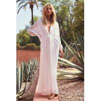 Hipanema - Robe longue vaporeuse, Amenapih, Blanche imprimé motifs dorés -  Reach 316aac40fe4