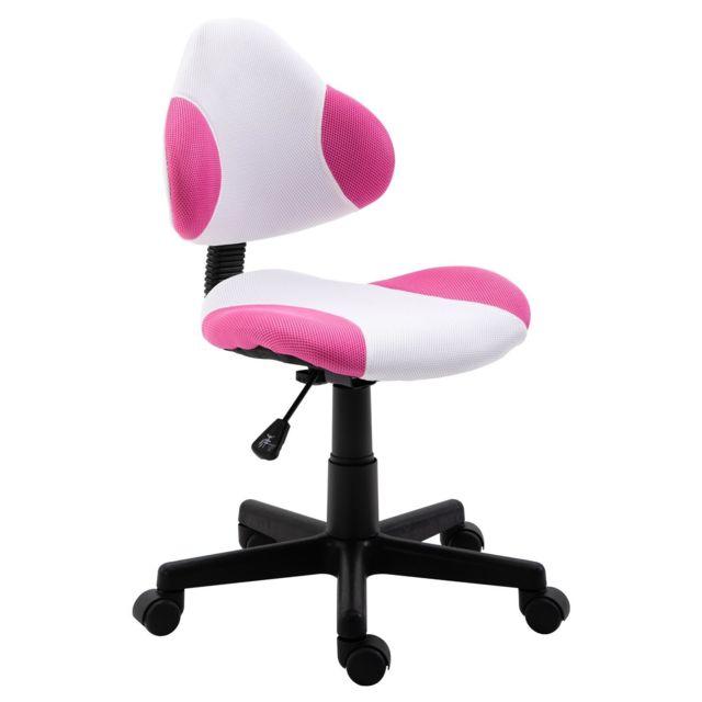 bureau de blancrose pivotant OSAKA réglablerevêtement pour Chaise en mesh hauteur enfant avec fauteuil USpGzVqM