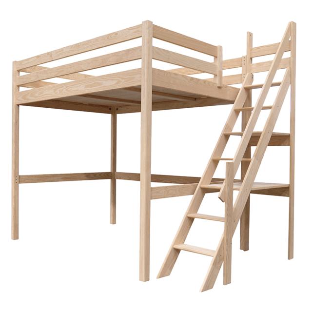 abc meubles lit mezzanine sylvia avec escalier de meunier pin massif pas cher achat vente. Black Bedroom Furniture Sets. Home Design Ideas