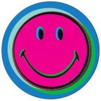 Zak! Design - Zak Designs - Zak Designs - 6187-1800 - Set de 4 Dessous de Verre - Mélamine - Smiley - Pop Art - Diamètre: 10 cm