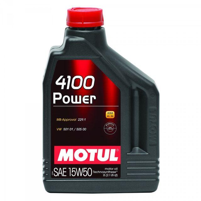motul huile moteur 4100 power a3 b4 15w50 bidon de 2 l achat vente huiles moteurs pas cher. Black Bedroom Furniture Sets. Home Design Ideas