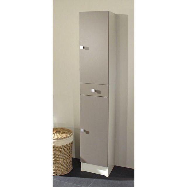 marque generique colonne salle de bain 2 portes 1 tiroir. Black Bedroom Furniture Sets. Home Design Ideas