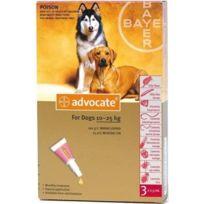 Bayer - Pack 3 X Advocate Antiparasitaire Chiens De 10 À 25 Kg