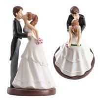 Dekora - Figurine gâteau de mariage le baiser des mariés 16 cm