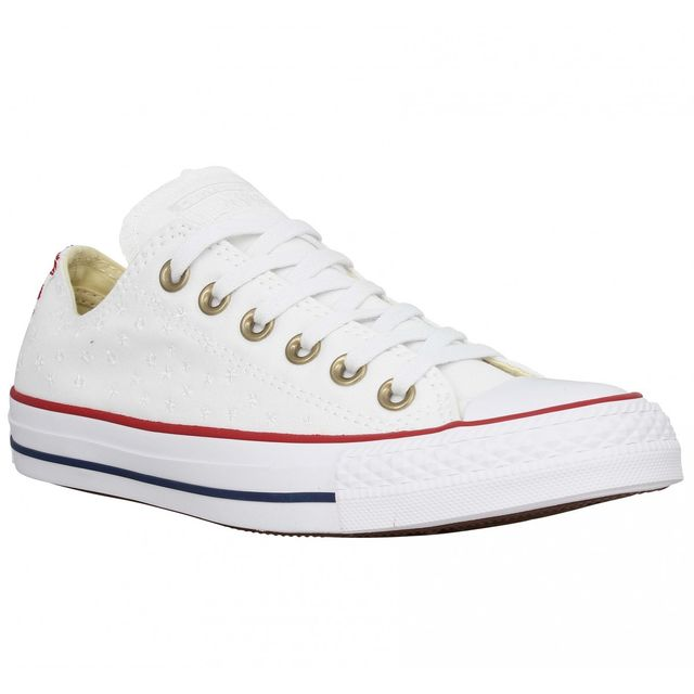 Converse - Chuck Taylor All Star toile brodee Femme-40-Blanc ...