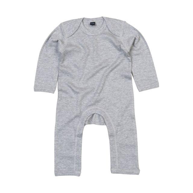 Babybugz - Barboteuse body bébé jambes manches longues - Bz13 - gris ... 621659347f6