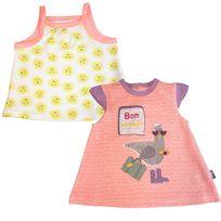 Petit Beguin - Top + Tee shirt bébé fille Riviera Girl - Taille - 12 mois 80 cm