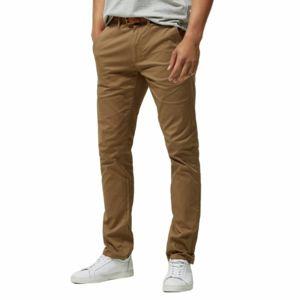 Selected - Pantalon chino en coton stretch camel Beige