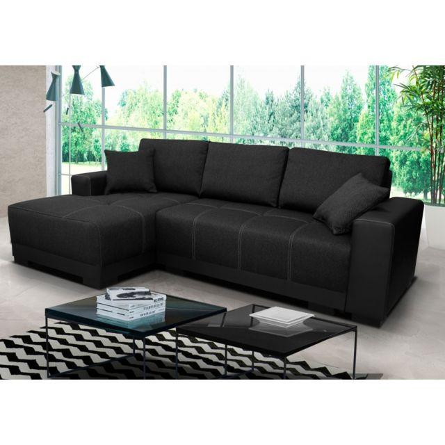 Rocambolesk Canapé Lido noir gauche sofa divan