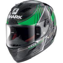 Shark - casque moto intégral Racing en Carbone Race-r Pro Carbon Kolov Dgk noir vert gris brillant M