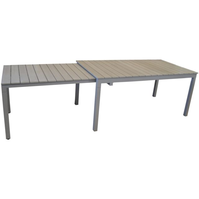 PROLOISIRS Table de jardin Thema allonge escamotable