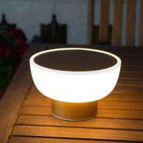 Alma Light - Patio-lampe Led d'extérieur rechargeable Ø20cm Or - designé par Oriol Llahona