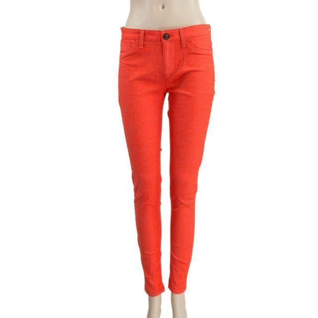 Jean slim orange femme Superdry